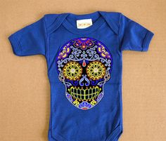 Day of the Dead Baby Bodysuit 3 6 12 months trendy by BonesNelson