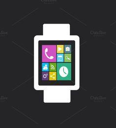 Smart watch material design black
