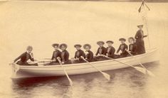 Aloha rowers in the earliest days!