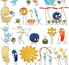 Art and Science of Laboratory Medicine. Clinical laboratory and biomedical science related news, abstracts and images for medical laboratory professionals, students and other laboratory geeks. Cute Fantasy Creatures, Cute Creatures, Science For Kids, Science And Nature, Bacteria Cartoon, Creepy Monster, Scary Monsters, Lab Humor, Illustration Inspiration