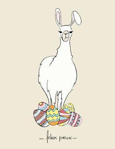 Happy Easter from Loire Valley llama Farm Stay, see you soon Alpacas, Funny Llama, Cute Llama, Llama Pictures, Llama Alpaca, Inca, Pet Rocks, Lol Dolls, Illustrations