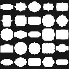 White Digital Frames, Classic Frames, Digital Clipart, Digital Frame, Clipart Frames, Frames Clipart, Basic Frames, Scrapbooking frames.