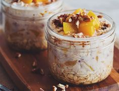 Healthy Overnight Oats with In-Season Peaches