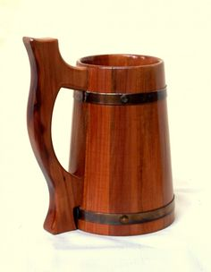 This handcrafted beer mug is made from real pear wood You can also buy this mug in Etsy Shop WoodenMugStudio https www etsy com shop WoodenMugStudio This is mug out Wooden Beer Mug, Beer Mugs, Cool Wood Projects, Wood Turning Projects, Warehouse Project, Wood Plans, Bowl, Wood Crafts, Woodworking Projects