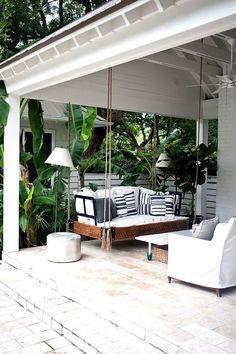 hanging swing outdoor deck ideas