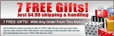 Thank you for the 7 free gift offer if I order ONE item that's nice of you ,i do not know of any company that rewards like Publishers Clearing House :)