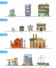 Oleg Beresnev illustration buildings
