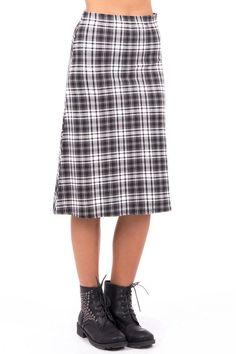 Tartan A-Line Skirt