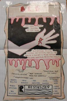 "One of my favorite poems to inspire writing is E.A. Robinson's ""Reuben Bright.""  Ask the kids who the unnamed ""they"" and ""them"" are and see how many interpretations they can come up with.  I challenged my 7th graders to create a Writer's Notebook Movie Poster inspired by their interpretation of the story, and this student decided it was murder story.  Here is my lesson on this poem: http://corbettharrison.com/free_lessons/Reuben-Bright.htm"