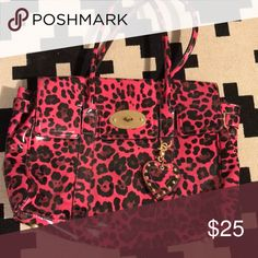 Hot Pink Leopard Bag Such a cool statement bag to make boring disappear. Mulberry for Target Bags