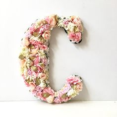 This listing is for: - ONE flower letter (13.5 inches, 18 inches or 23 inches) - Your choice of colors - include in notes to seller at checkout - High Quality Materials - Wood, Silk Flowers and unique accents Flower Letter as featured in Tamera Mowrys daughter Ariahs room!! I made