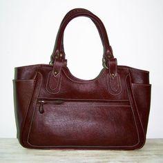 Julia size L Leather Bag Leather Tote  Leather Handbag, Dark Brown