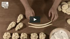 Knopf flechten / Braiding Knob on Vimeo Bread Recipes, Cookie Recipes, Brioche Recipe, Bread Starter, Bread Shaping, Bread Art, Creative Food Art, Braided Bread, Jewish Recipes