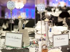 Table numbers named after different fashion designers. #bridal #shower