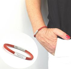 Natural Vegan Leather Bracelet Personalized Vegan Gift | Etsy Mens Engraved Bracelets, Bracelets For Men, Personalized Gifts For Men, Vegan Gifts, Perfect Gift For Her, Gifts For Father, Bracelet Making, Vegan Leather, Success