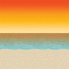 Luau Sunset Backdrop