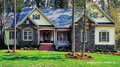 Home Plan HOMEPW07680 - 2097 Square Foot, 4 Bedroom 3 Bathroom + Cottage Home with 2 Garage Bays | Homeplans.com