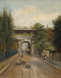 This is the Archway Bridge in North London, before it was redeveloped in London History, Local History, North London, Old London, Archway London, London Pride, Victorian London, Historical Photos, 19th Century