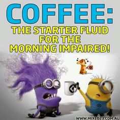 COFFEE: The start fluid for the morning impaired! Lol !!
