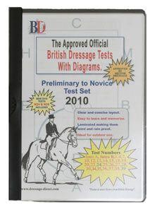 British Dressage Test Sheets Preliminary to Novice