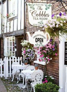 The picture perfect streets of Rye, England. The Cobbles Tea room. The picture perfect streets of Rye, England. The Cobbles Tea room. Rye England, Ice Crush, Boutique Patisserie, Tea Room Decor, Vintage Tea Rooms, Vintage Bakery, Party Decoration, Shop Fronts, Cafe Interior