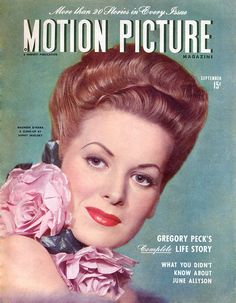 Motion Picture Magazine September 1945 with Maureen O'Hara on the cover