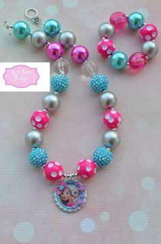 Frozen Disney Princess inspired Chunky Bubblegum Necklace