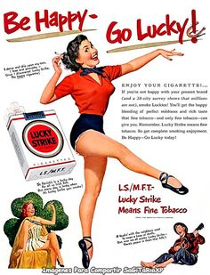 Lucky Strike Pin Up