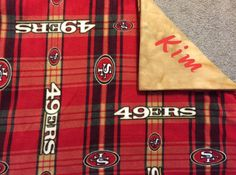 New to Sewdivine77 on Etsy: San Francisco 49ers double layered blanket/throw (43.00 USD)