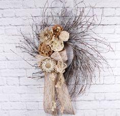 Grapevine & Burlap Wreath