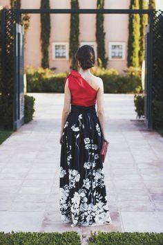 Vestido largo falda larga invitada boda noche