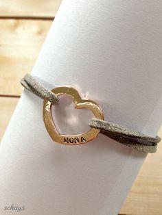 Handgestempeltes Herz mit Namen Deines Lieblings von schuys auf DaWanda.com