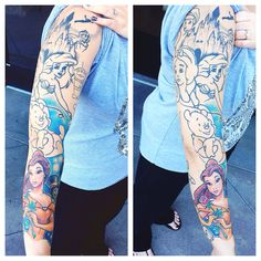 Saw the coolest Disney sleeve at my work I had to take a picture of it!