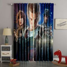 3D Printed Stranger Things Style Custom Living Room Curtains – Westbedding