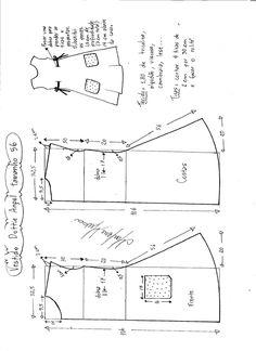 Esquema de modelagem de Vestido Dottie Angel tamanho 56.