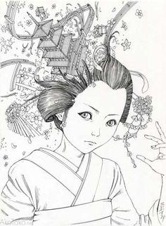Black and White original drawing #5 by Shintaro Kago