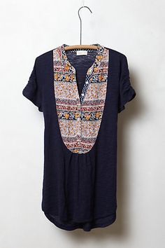 Addie Bibbed Henley #anthropologie