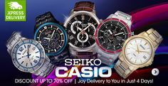 Seiko & Casio Watches. Shop Now : http://bit.ly/HulalaWatches