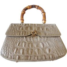 Purse Vintage 1950s Faux Crocodile Reptile Embossed Leather Woolf Brothers Handbag Bag  http://www.rubylane.com/item/676693-ACC231/Purse-Vintage-1950s-Faux78-Crocodile-Reptile