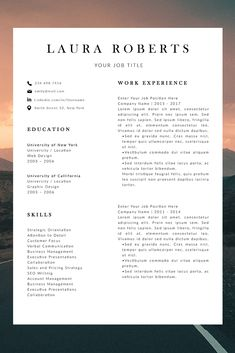 professional resume template - resume template with cover letter - modern resume template - cv layout template - work cv template Best Cv Template, Modern Resume Template, Creative Resume Templates, Layout Template, Resume Layout, Job Resume, Professional Resume Format, Resume Outline, Good Resume Examples