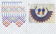 Christmas Quilt Patterns, Beaded Necklace Patterns, Crochet Squares, Hama Beads, Bead Weaving, Knit Crochet, Beading, Jewelry Necklaces, Mexican