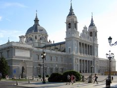 Almudena Cathedral in Madrid, Spain Madrid City, Cathedral Church, Notre Dame, Barcelona Cathedral, Taj Mahal, Louvre, Architecture, Building, Travel
