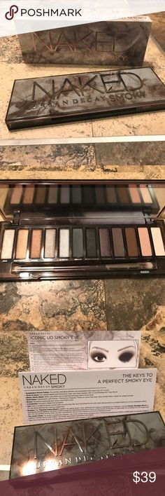 "NWT Urban Decay Smoky Eye 💕 💯 percent authentic Urban Decay Palette 🎨  This has 12 beautiful colors that you can wear during the day and night! Comes with eyeshadow brush and instructions on how to get that ""smoky eye"" look. Comes with the original box 📦 Urban Decay Makeup Eyeshadow"