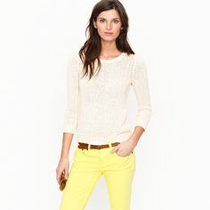 I need this top to go with my yellow pants... and the belt.