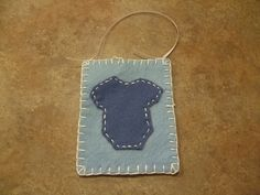 Felt Baby Wall hanger or Xmas Ornament Light Blue by itsCRAFTtime, $3.00