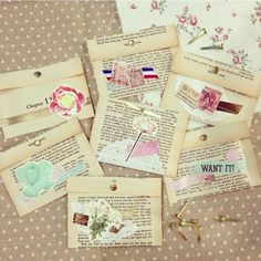 Mail art, penpals, airmail, envelope, snailmail envelopes from recycled pages