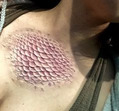 Large Mermaid Scale Prosthetic Patch by LarpHouse on Etsy
