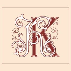 Vintage Monogram KK by Bee9jb on Etsy
