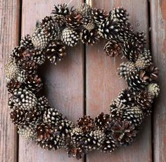 Natural Handmade Rustic Pinecone Wreath from The Coastal Great Lakes in NY State - Natural Inspirations - Great decoration. $45.00, via Etsy.