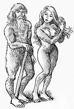 """In Basque Mythology a Basanjaun is a huge, hairy hominid dwelling in the woods. They were thought to build megaliths, protect flocks of livestock, and teach skills such as agriculture and ironworking to humans.His female partner is called Basandere (Lady of the Forest or """"Wild Lady"""")."""